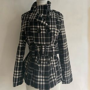 🖤SOLD Plaid Stylish Coat with Big Buttons